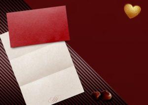 赤い封筒をモチーフのボックス