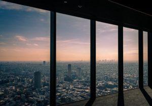 ヒカリエから見た渋谷の街並み