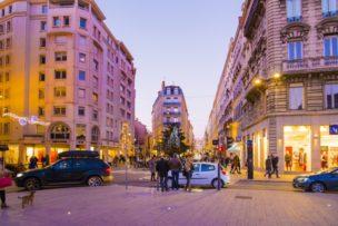 美食の街として有名なリヨンの街並み