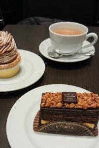 ショコラショと共にケーキが味わえるのも嬉しですね。